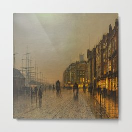John Atkinson Grimshaw's Liverpool from Wapping Metal Print