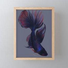 Dark Betta Fish Framed Mini Art Print