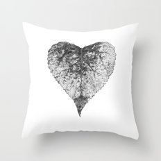 heart b&w Throw Pillow