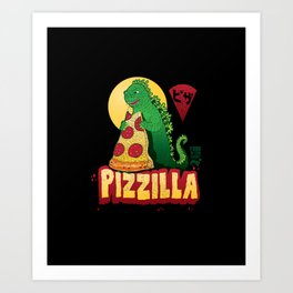 pizzilla Art Print