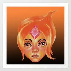 The Flame Princess Art Print