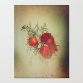 Vintage Red Roses Canvas Print