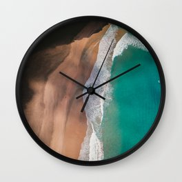 Secret Turquoise Beach With Clear Water & Sienna Sand Wall Clock