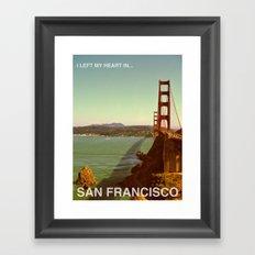 I Left My Heart In... San Francisco Framed Art Print