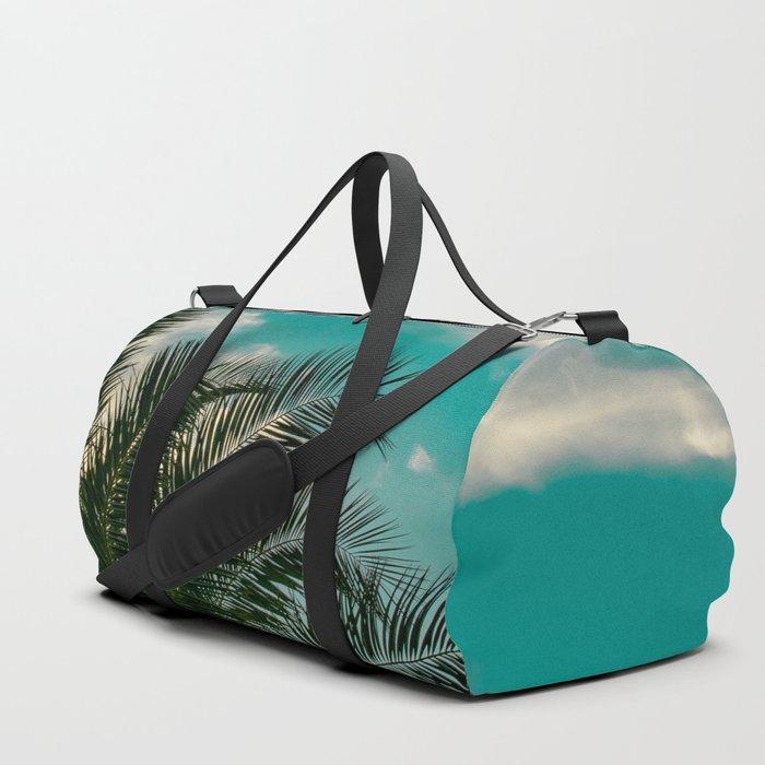 Palms on Turquoise - II Duffle Bag