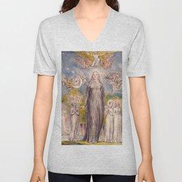 """William Blake """"Melancholy"""" Unisex V-Neck"""