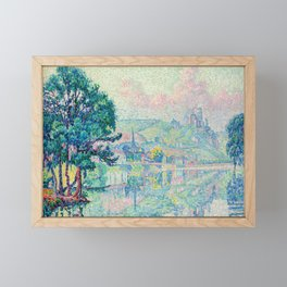 "Paul Signac ""Les Andelys. Matin. Été"" Framed Mini Art Print"