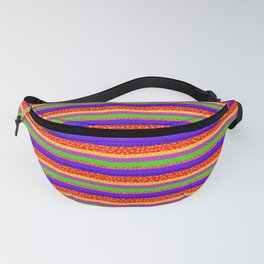 Bubbly Rainbow Striped Pattern Fanny Pack