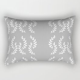 In the Vines Grey Rectangular Pillow