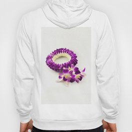 Orchid flower garland (It's called Malai in Thai), paint effect illustration Hoody