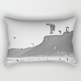 Windsurfers having fun on the Atlantic Ocean - Landscape Photography #Society6 Rectangular Pillow