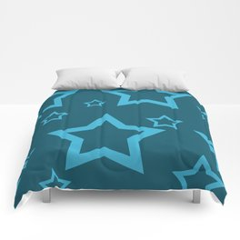 Stars turquoise color design Comforters