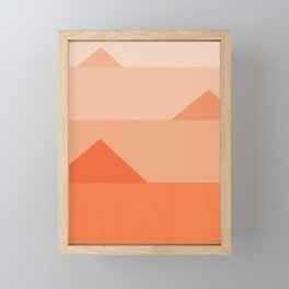 Abstraction_Triangles_001 Framed Mini Art Print