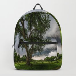 Big Tree - Tall Cottonwood and Passing Storm in Texas Backpack