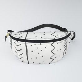 Moroccan Stripe in Cream and Black Fanny Pack