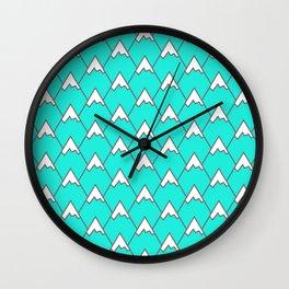 Mountain Peaks Wall Clock