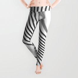 Organic Abstract 01 WHITE Leggings