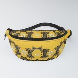 Ornate circulate is festive in  flower decorative Fanny Pack