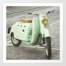 Mint Moto - Bruges Belgium Photography Art Print