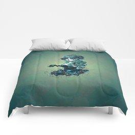 Sugar skull girl in blue Comforters