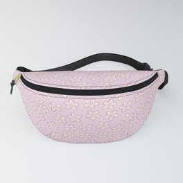 Small Flowers in Cream on Pink Fanny Pack