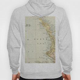 Vintage Map of New Zealand Hoody
