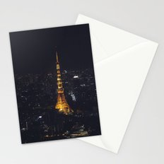 Tokyo Tower at Night Stationery Cards