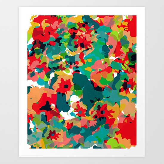ALL FOR FLOWERS Art Print