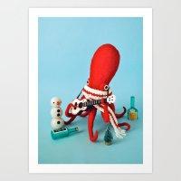 Ukelele Octopus Art Print