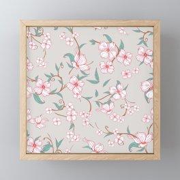 Creepy Flowers Pattern 2 Framed Mini Art Print