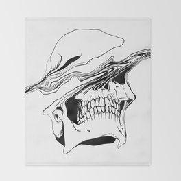 Skull (Liquify) Throw Blanket