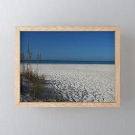 A Peaceful Day At A Marvelous Gulf Shore Beach Framed Mini Art Print