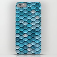 Luxury turquoise mermaid sparkling glitter scales- Mermaidscales Slim Case iPhone 6s Plus