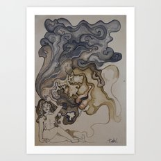 wanna smoke? Art Print
