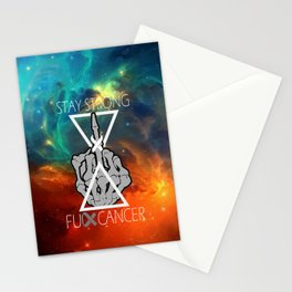 Fuck Cancer - Brain Cancer - Skull Hand  Stationery Cards