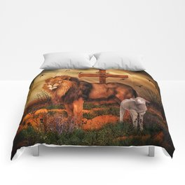 The Lion And The Lamb Comforters
