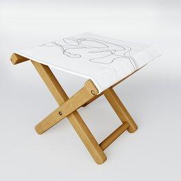 Lovers - Minimal Line Drawing Folding Stool