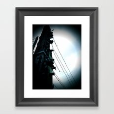 Birkenau fences Framed Art Print