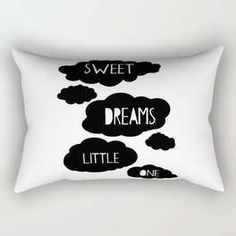 Sweet dreams little one, Sweet dreams little one sign, black and white, Nursery Wall Art, Print Rectangular Pillow