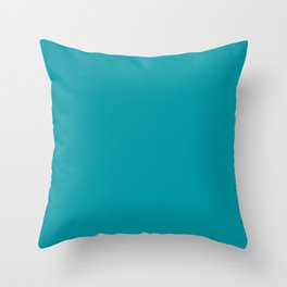 Turquoise Blue Teal | Solid Colour Throw Pillow