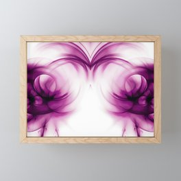 abstract fractals mirrored reacdei Framed Mini Art Print