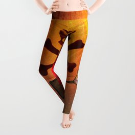 Funny pirate monkey with flag Leggings