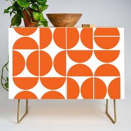 Mid Century Modern Geometric 04 Orange Credenza