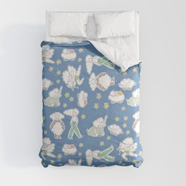 Clouds & Dreams - Dreamy Blue Pallete Comforters