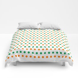 Irish Flag Colors Dots Pattern Comforters