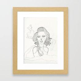 Toxic Love (Black and White) Framed Art Print