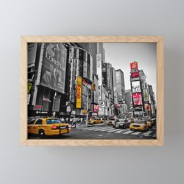 Times Square - Hyper Drop Framed Mini Art Print