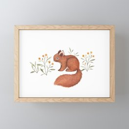 Furry Squirrel Framed Mini Art Print