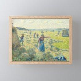 """Camille Pissarro """"La Récolte des Foins, Éragny""""(""""The Hay Harvest"""") Framed Mini Art Print"""