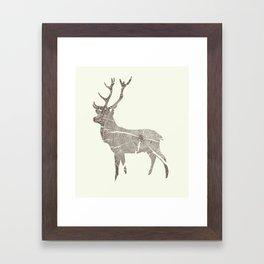 Wood Grain Stag Framed Art Print